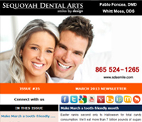 Knoxville Dental Care - March 2013 Newsletter
