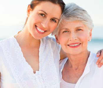 Middle aged women with elderly women