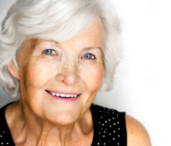 Senior woman smiling with beautiful teeth