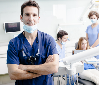 Dentist posing